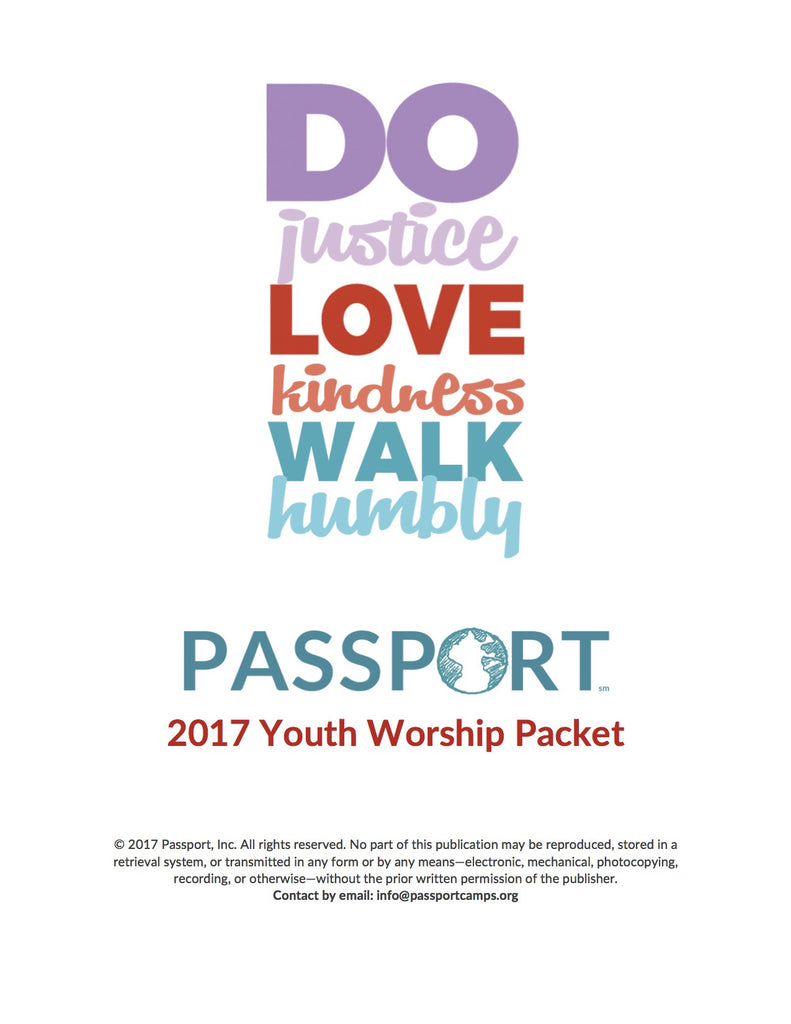 2017 Youth Worship Packet