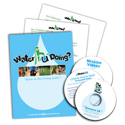Water u Doin? VBS (Printed curriculum, CD's, & DVD)