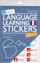 French Vocabulary Language Stickers