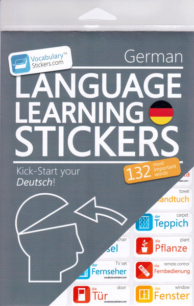 Grman Vocabulary Language Stickers