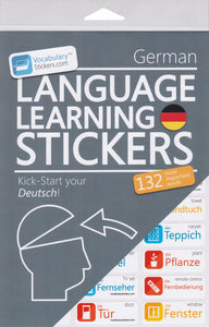 German Vocabulary Language Stickers