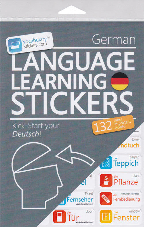 German Language Learning Stickers