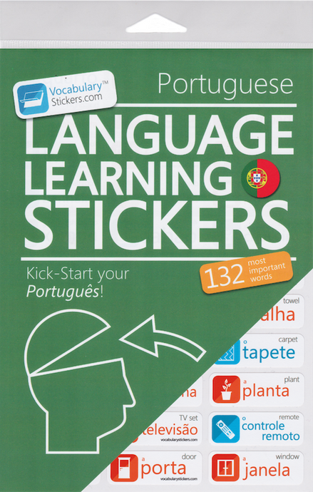 Portuguese Language Learning Stickers