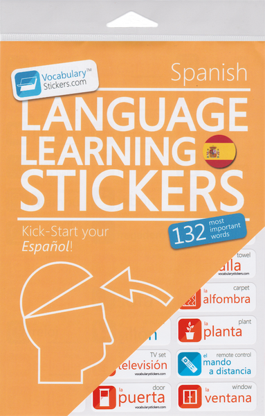 Spanish Vocabulary Language Stickers