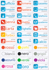 Italian Vocabulary Learning Stickers