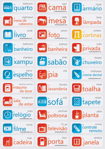 Portuguese Vocabulary Memorization Stickers