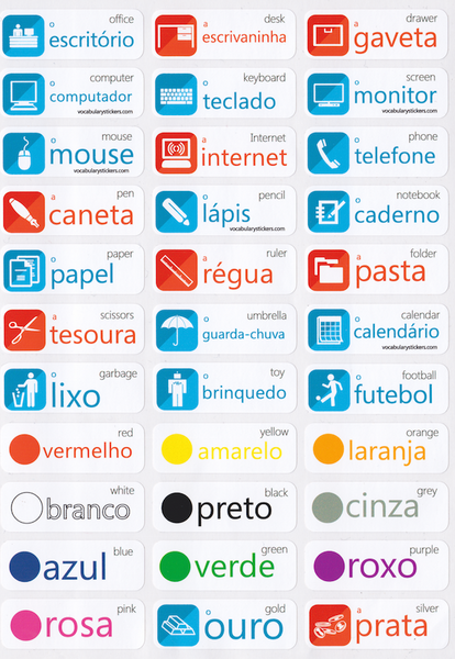 Portuguese Language Stickers