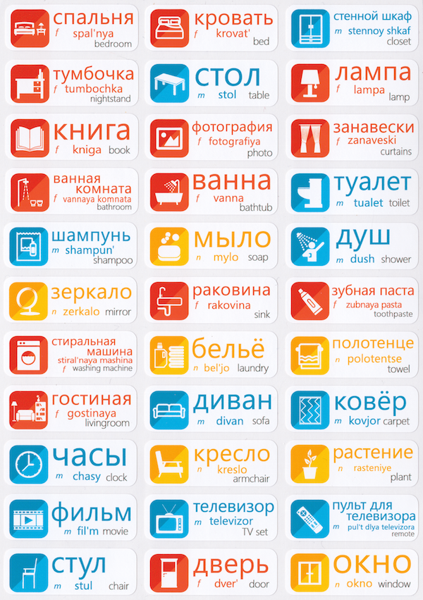 Russian Language Stickers – Vo...