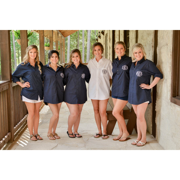 Bridal Party Button Down Shirt Monogrammed Getting Ready Shirt - My Southern Charm
