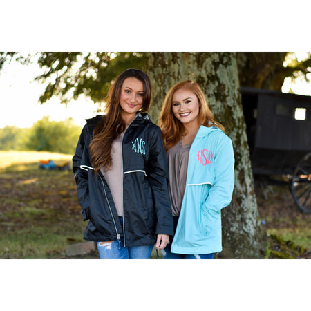 Monogrammed Rain Jacket Personalized Rain Coat