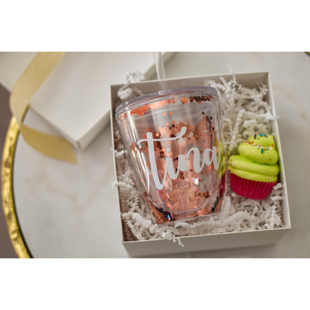 Personalized Stemless Wine Glass, Monogrammed Bridesmaid Proposals Tumbler and bath bomb,  Bachelorette Party Cups