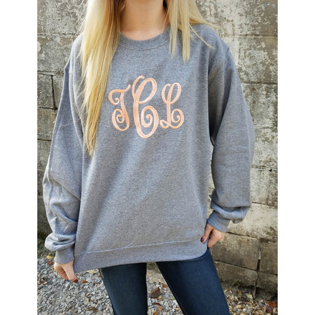 Monogrammed Long Sleeve Shirt Christmas Gift for Her (V)