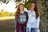 Monogrammed Long Sleeve Shirt Christmas Gift for Her (V) - My Southern Charm