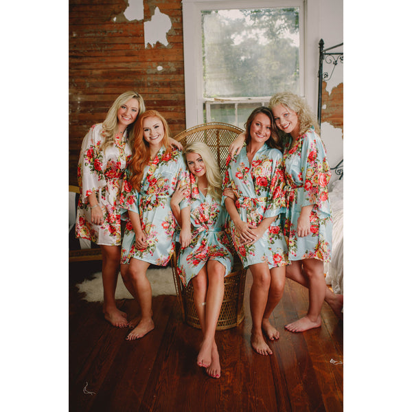 Will you be my Bridesmaid  Monogrammed Floral Kimono Robes and Bridesmaid  Proposal Box (RB05 ... 54a17acef
