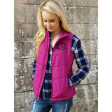 Monogrammed Puffer Vest ~ Quilted Puffy Vest - My Southern Charm