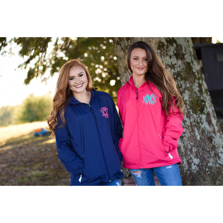 Monogram Charles River Rain Pullover, Lightweight Preppy Striped Jacket Rain Pullover,