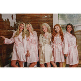 Satin Bride and Bridesmaid Monogram Robe (RB01) - My Southern Charm