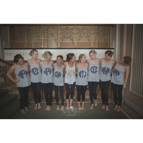 Monogrammed Bridesmaid Shirts, Personalized Bridal Party Tank Tops - My Southern Charm