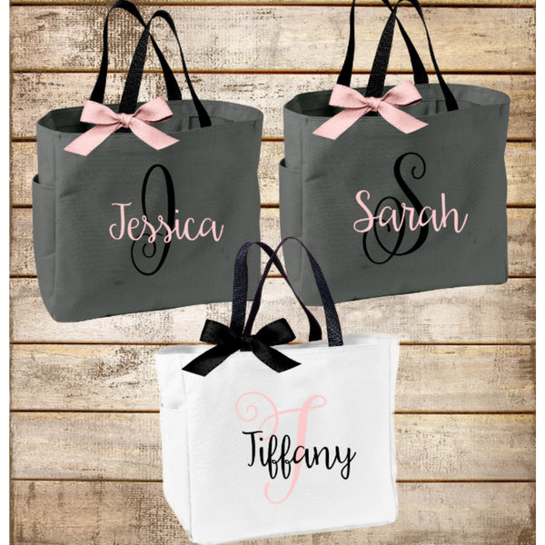 Monogrammed Tote, Personalized Sorority Gift, Big Little Sorority Tote Bag, bridesmaids - My Southern Charm