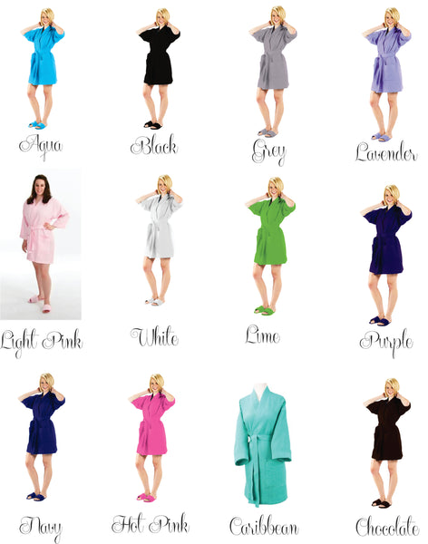 Personalized Waffle Bridesmaid Robes Bridesmaid Gift (RB03) - My Southern Charm