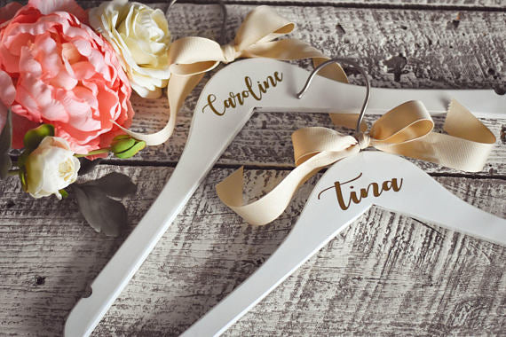 Personalized Bridesmaid Wedding Dress Hangers - My Southern Charm