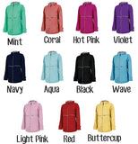 Monogrammed Charles River New Englander Rain Jacket - My Southern Charm