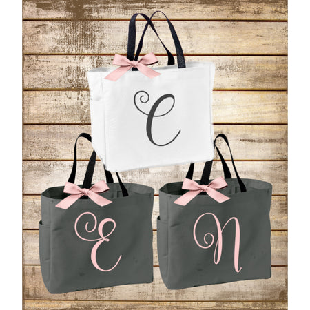 Monogrammed Bridesmaid Totes, Personalized Sorority Gift, Big Little Sorority Tote Bag