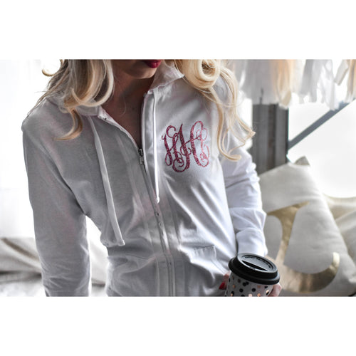 Monogram Bridal Party Bridesmaid Full Zip Jacket Sweatshirt - My Southern Charm