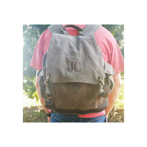 Personalized Vintage Military Style Weekend Travel Backpack Rucksack gift for Dad or Groomsmen - My Southern Charm