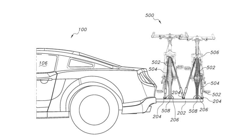 Ford's Bike Rack Patent
