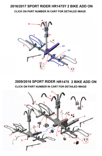 sport rider bike add on kit parts