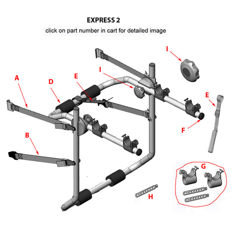 Express 2 Bike Rack Replacement Parts