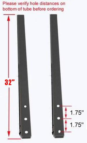 WHEEL HOLDER SUPPORT TUBE (PAIR): LONG WHEELBASE, X-SPEC