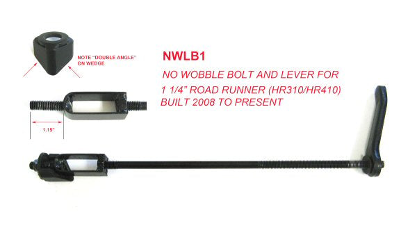 "No Wobble Bolt and Lever for Current 1-1/4"" Road Runner"