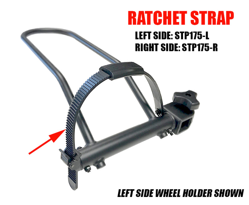 Ratchet Wheel Strap for Sport Rider & RV Rider racks