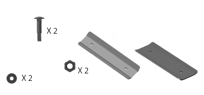 TRS tray connecting plates