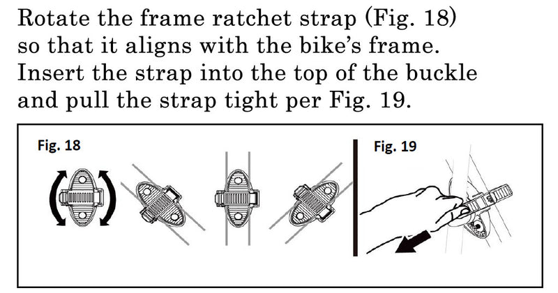 Destination Frame Ratchet Strap with Buckle