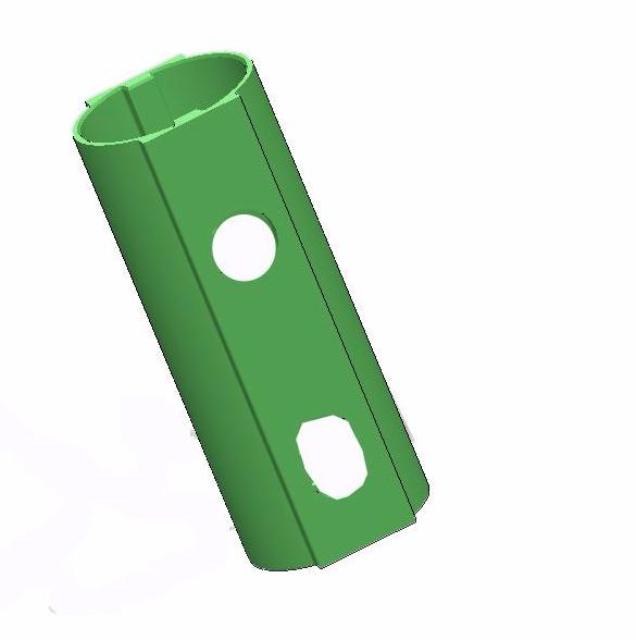 Aluminum Post plastic sleeve