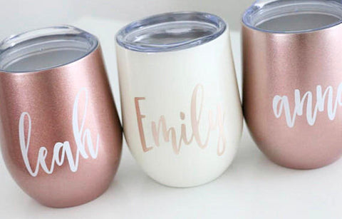 rose gold wine glasses
