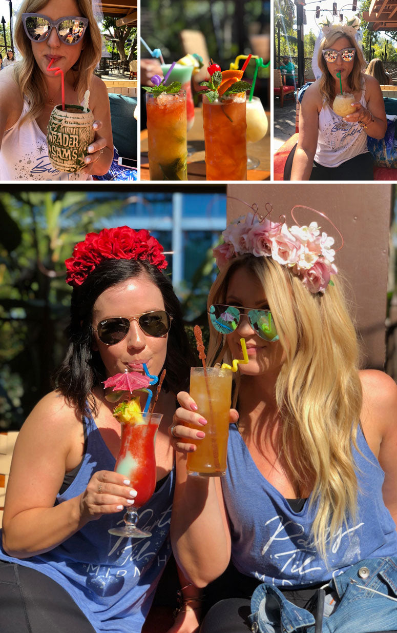 Bachelorette party at tiki room in disneyland!