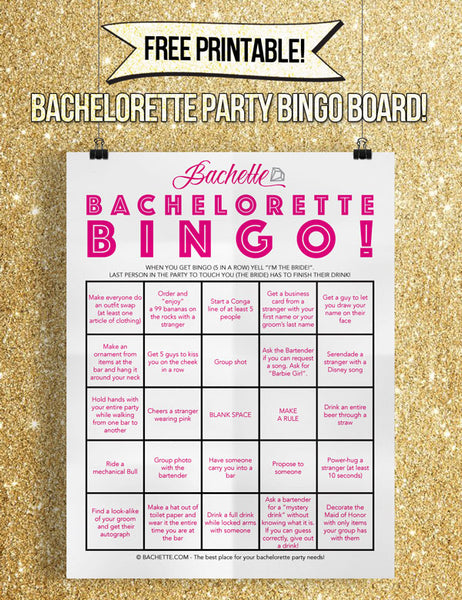 Free printable bachelorette party game and bachelorette party game ideas