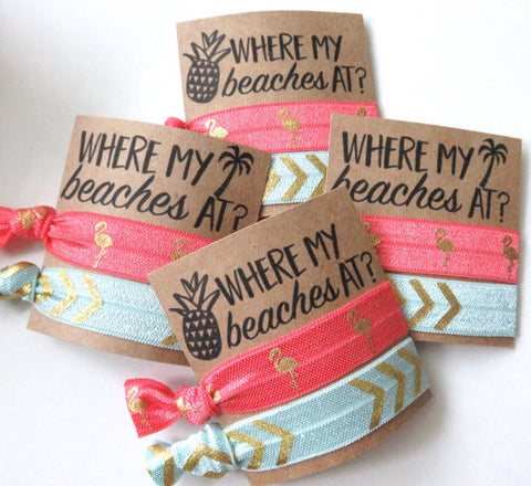 beach hair ties