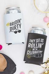 bridin dirty bachelorette party koozies
