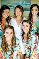 floral bride wedding robes