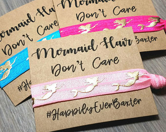mermaid hair ties
