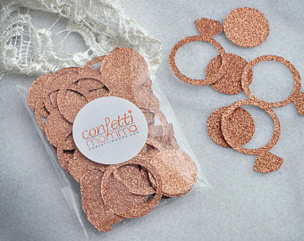 rose gold confetti
