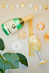Bachelorette party decorations - oversized champagne bottle balloons
