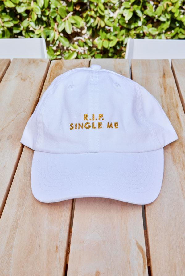 R.I.P. Single Me | R.I.P. Sober Me - Bachelorette party dad hats