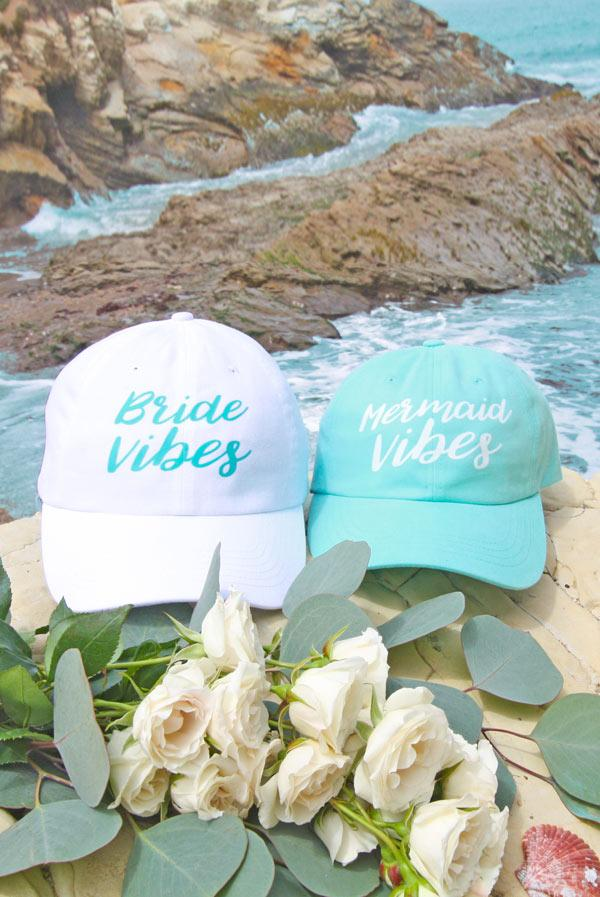 Mermaid Vibes | Bride Vibes - Bachelorette Party Dad Hats