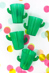 Cactus Shot Glasses: 4 pack